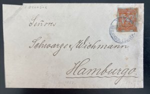 1894 Guayaquil Ecuador Cover To Hamburg Germany