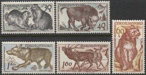 CZECHOSLOVAKIA 1959 Sc 933-937 Set of 5, MNH VF Fauna / Animals of Tatra's