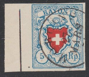SWITZERLAND  An old forgery of a classic stamp - ...........................B307