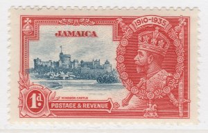 British Colony Jamaica Silver Jubilee 1935 1d MH* Stamp A22P19F8960