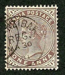 Zanzibar SGZ83 India 1a Brown-purple CDS (type Z6)