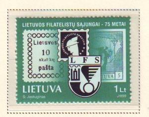 Lithuania Sc 636 1999 75th Philatelic Soc stamp mint NH