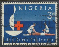 Nigeria  SG 135 Used 1963 Red Cross  please see scan