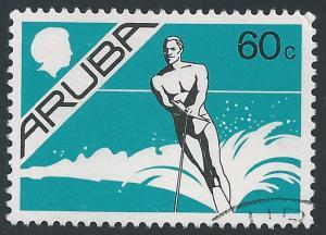 Aruba #9 60¢ Water Skier