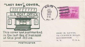 United States Colorado Malta 1955 4-bar  1890-1955  Philatelic.