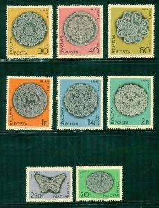 R4-0007 HUNGARY 1570-77 MNH SCV $3.20 BIN $1.75 (14)