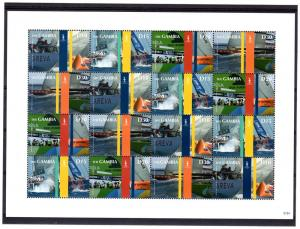 Gambia  2007 Sc#3141  America's Cup Sheetlet (16) Sports/Ships MNH
