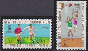 New Hebrides - British Issues 146-147 MNH (1971)