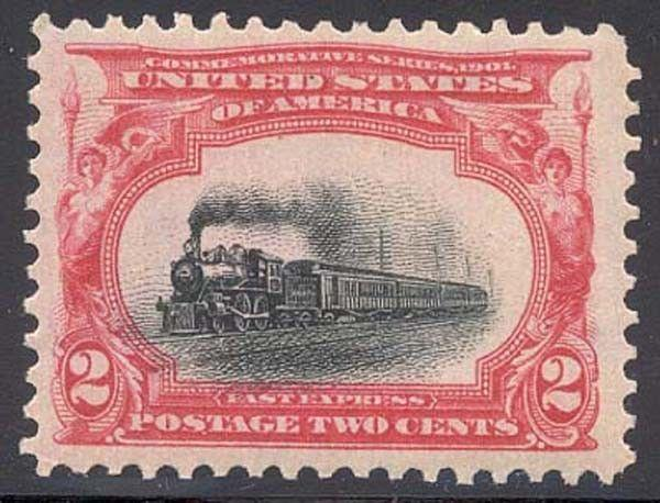 295, Mint 2c TRAIN SUPERB OG A REAL GEM STAMP!