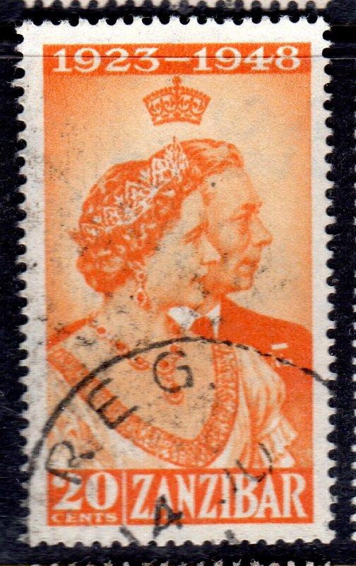 ZANZIBAR   1948 RSW USED SG 333