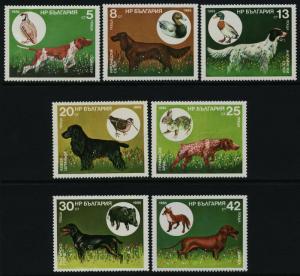Bulgaria 3128-34 MNH Hunting Dogs, Birds, Animals