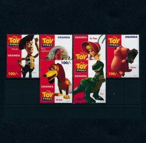 [101864] Uganda 1997 Disney Toy Story dinosaurs pig dog  MNH