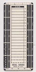 Metal Stamp Perforation Gauge by Ideal
