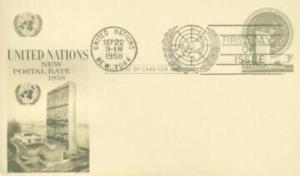 UN #UX2 3c POST CARD - Fleetwood