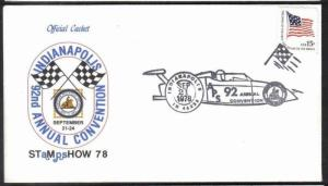 USA  1978 SPORTS - F1 CAR RACING    SPECIAL COVER   & CACHET # 5238
