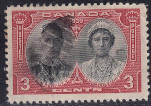 Canada 248 Royal Visit Tour Issue 3¢ 1939