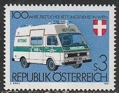 1981 Austria - Sc 1201 - MNH VF - 1 single - Emergency Medical Service