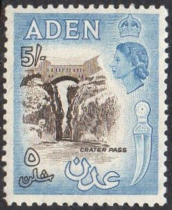 Aden 19535/- sepia and dull blue MH
