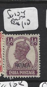 INDIA  PATIALA  (PP2408B)   KGVI   1/2A  SG 104  MNH