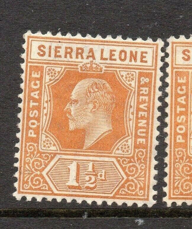 Sierra Leone 1907-10 Early Issue Fine Mint Hinged 1.5d. 303545