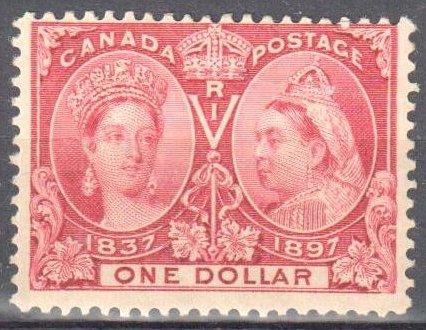 Canada #61 VF Mint LH Jubilee C$1000.00 -- $1.00 LAKE