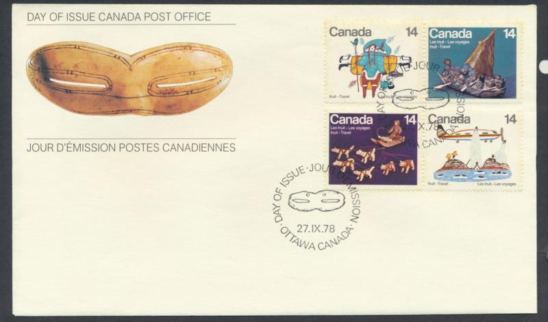 FDC  SG 924a 926a SC# 770a 772a SPECIAL - please read details  Inuit