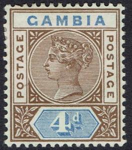 GAMBIA 1898 QV KEY TYPE 4D
