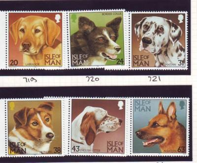 Isle of Man Sc 716-21 1996 Dogs stamp set mint NH