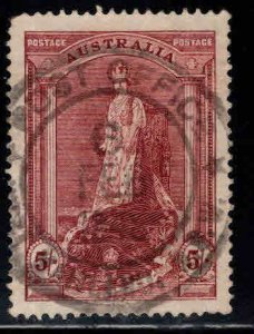 AUSTRALIA  Scott 177 Used Queen Elizabeth 1938   stamp