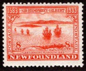 201, NSSC, Newfoundland, 8c, G/VG, MLHOG,wmk pos 6, p13.5, Scott 218
