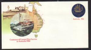 Australia Coastal Pilot Stamped Envelope Unused