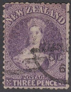 NEW ZEALAND 1864 Chalon 3d perf 12½ SG118 deep colour used...................774