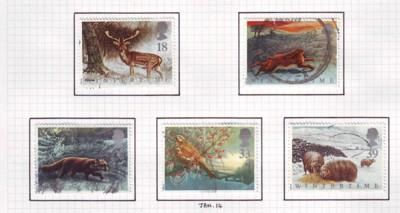 Great Britain Sc 1421-5 1992  Winter Animal stamps used
