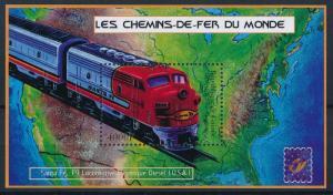 [63415] Guinea 2001 Railway Train Eisenbahn Chemin de Fer Souvenir Sheet MNH