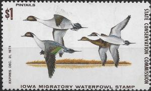 United States 1973 Iowa Migratory Waterfowl Stamp SC# IA2 MNH Duck Stamp