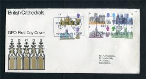 CATHEDRALS FIRST DAY COVER + SPECIAL CANCEL Cat £40