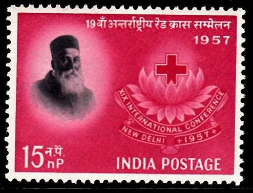 India 1957 Int Red Cross Conferenece SG388 15n.p MM
