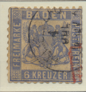 Baden (German State) Stamp Scott #22, Used - Free U.S. Shipping, Free Worldwi...