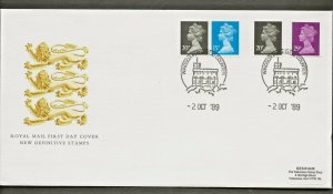 2/10/1989 20p2B+15pSBL+20PACP SEL+29p2B CHANGED DEFINITIVE STAMPS EX BOOKLET FDC