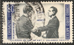 MEXICO C282, US-Mex Chamizal Treaty JFK-Lopez Mateos Used. VF.(1161)