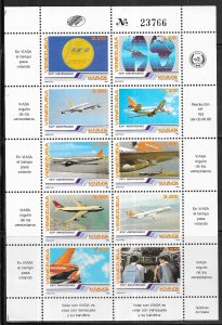 Venezuela  #1360 Venezuelan Airlines  S/S  (MNH) CV $9.00