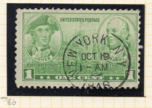 United States 1936-37 Early Issue Fine Used 1c. 315705
