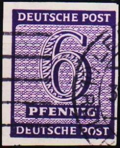 Germany. 1945 6pf  Fine Used