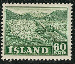 Iceland Attractive Sc#261 MVLH OG VF SCV $20...nice bargain!!