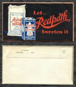 p336 - Canada 1920s REDPATH SUGAR Cover. Chantry Ontario. Color ADVERTISING