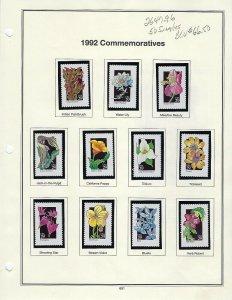 1992 2647-2696 29 cent WILDFLOWERS SET 50 MNH SINGLES - SCV $66.50 - W41