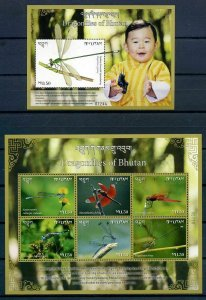 Bhutan 2018 dragonflies insects klb+s/s MNH