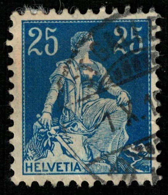 Switzerland, MC #103, 1908, Helvetia (T-4585)