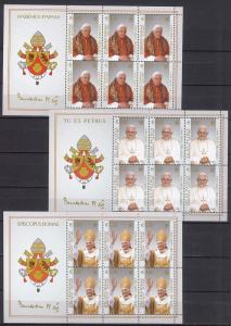 2005 - VATICAN - Scott #1295-1297 - Pope Benedict XVI - MNH ** - BF