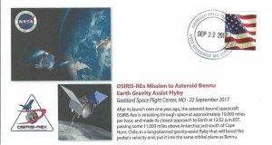 2017 OSIRIS-Rex Earth Gravity Assist Flyby Goddard SFC 22 September